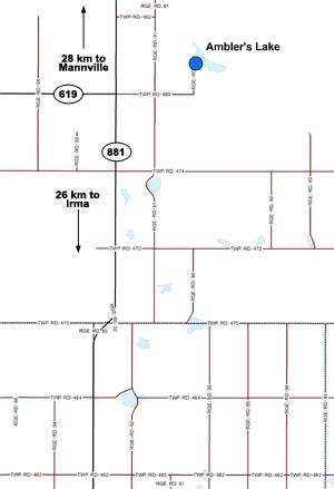Ambler's Lake Map